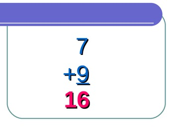 Math Facts Power Point for the Seven Rule for math fluency with Common Core