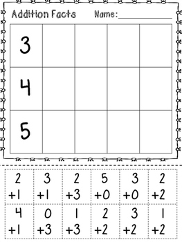 Math Facts Practice - Addition and Subtraction 0-20