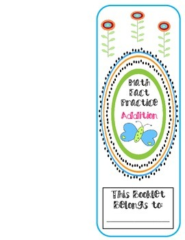 Math Facts Practice Booklet-Addition