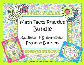Math Facts Practice Bundle: Addition and Subtraction Booklets