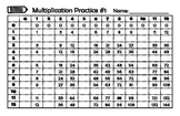 Math Facts Practice Charts (Creative!)