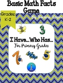 "Math Facts Practice Game for Primary Grades: ""I Have...Who Has...?"""