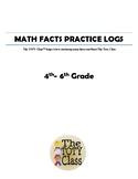 Math Facts Practice Log 4-6