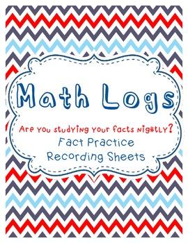 Math Facts Practice Logs