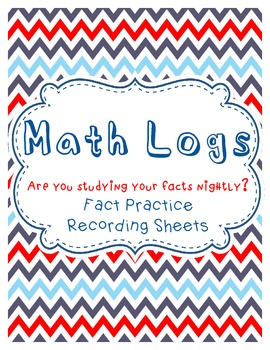 Math Facts Practice Logs