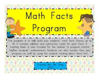 Math Facts Program