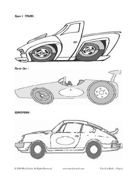 Math Facts Program: Formula Fun Fact Car Rally Race