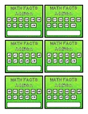 Math Facts Punch Cards - Addition