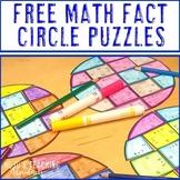 Math Facts Puzzle Math Center FREEBIE