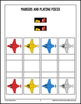 Math Facts Rocket Evasion Flash Card Game: Addition & Subtraction