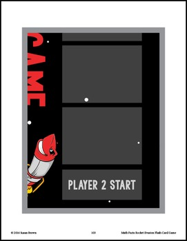 Math Facts Rocket Evasion Flash Card Game: Multiplication & Division