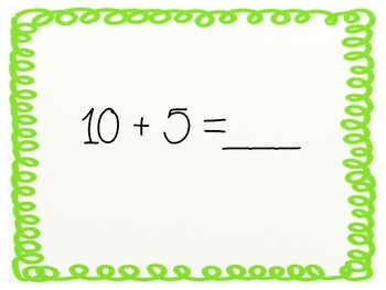 Math Facts Show Down--Addition Edition--
