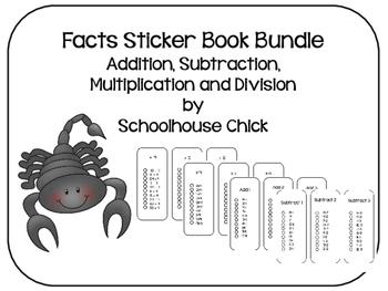 Math Facts Sticker Book- Bundle