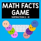 Math Facts - Subtraction 2-10