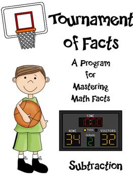 Math Facts - Subtraction Fact Fluency Program Basketball Themed