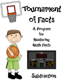 Math Facts - Subtraction Fact Fluency Program Basketball Themed