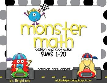 Math Facts Sums 1-20