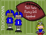 Math Facts Fluency Drills Superbowl Unit