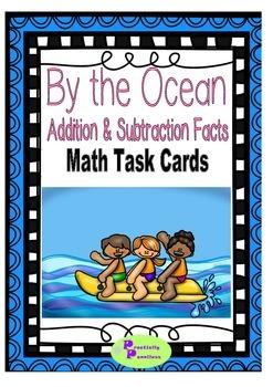 Math Facts Task Cards - Ocean Activity Themed