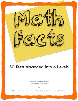 Math Facts Tests