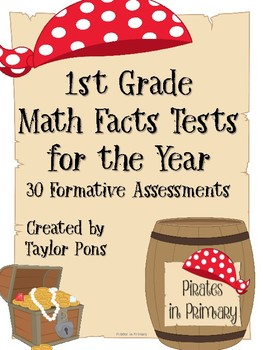 Math Facts Tests for the Year by Pirates in Primary