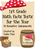 CCSS Math Facts Tests for the Year 30 Formative Assessments