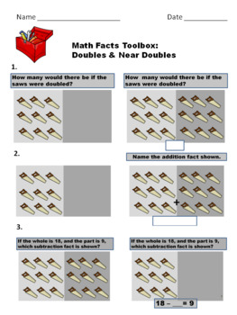 Math Facts Toolbox: Doubles & Near Doubles, Addition & Substraction