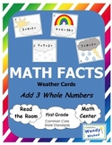 Math Facts: Add 3 Whole Numbers Seasons Weather Cards (Common Core)