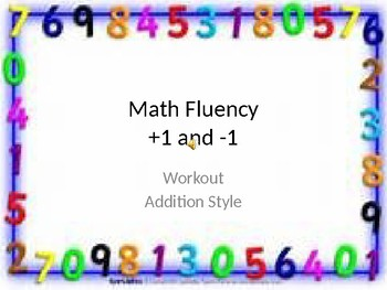 Math Facts Workout Fluency