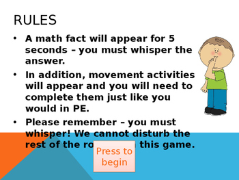 Math Facts and Movement 6s