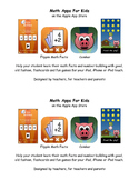 Math Facts and Number Building App Flyer
