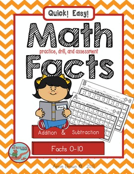 Math Facts - for practice-drill-assessment
