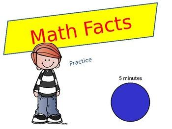 Math Facts timer