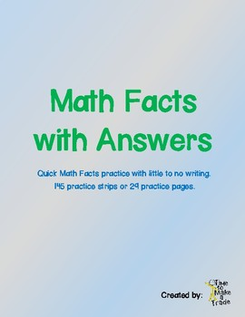 Math Facts with Answers