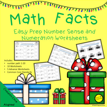 Math Facts with Numeration Easy Prep Worksheets