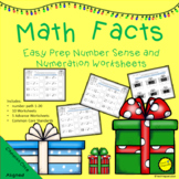 Math Facts Number Sense and Numeration Easy Prep Worksheets Christmas Math