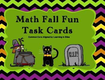 Math Fall Fun task cards