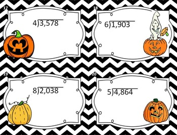 Math Fall Fun task cards