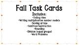 Math Fall Task Cards