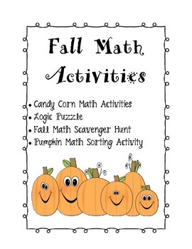 Math Fall and Halloween Activities