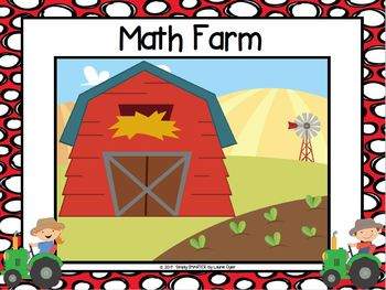 NO PREP Farm Themed Addition Roll, Shake, and Spill Addition Game