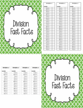 Math - Division Fast Facts