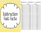 Math - Subtraction Fast Facts