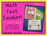 Math Fast Finisher Volume 3