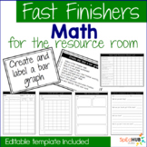 Math Fast Finishers for the resource room {editable}