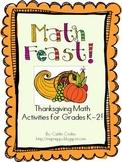 Math Feast!  K-2 Thanksgiving Math Activities