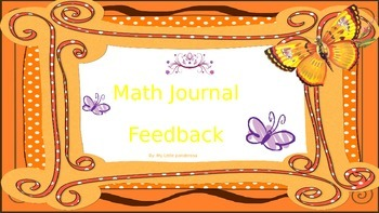 Math Feedback for Journals