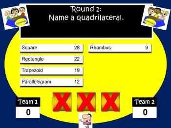 Math Feud Powerpoint Game for Middle School and Junior High