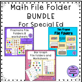 Math File Folder BUNDLE for Autism and Special Education