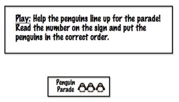 Math File Folder Game: Place Value Penguin Parade